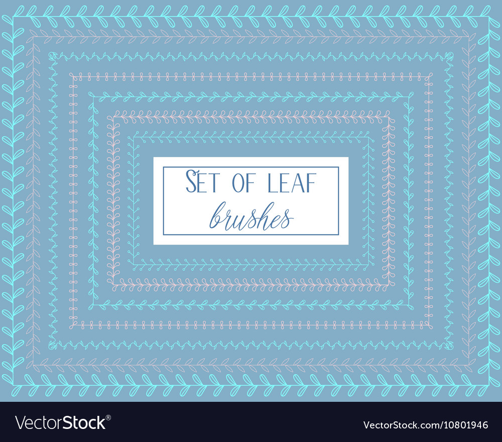 Set of leaf brushes vector image