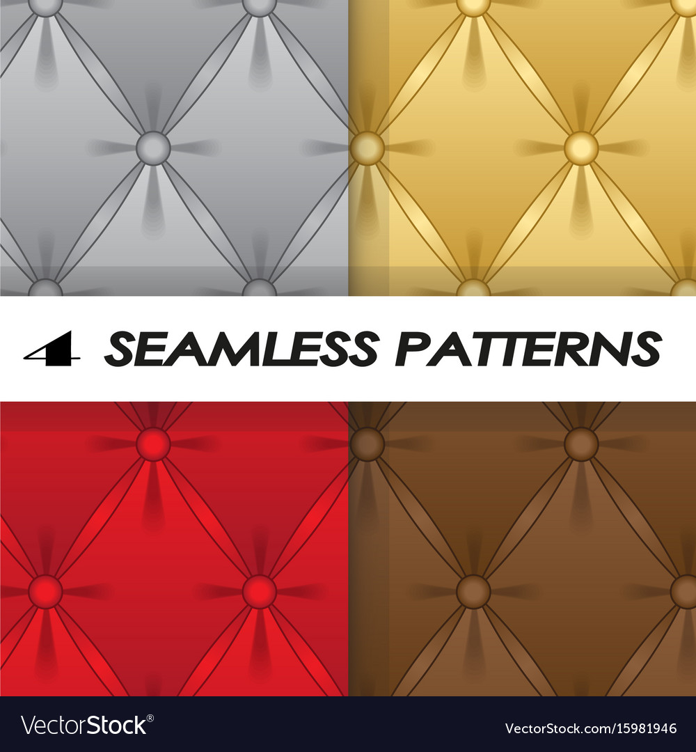 Set of seamless patterns with soft upholstery