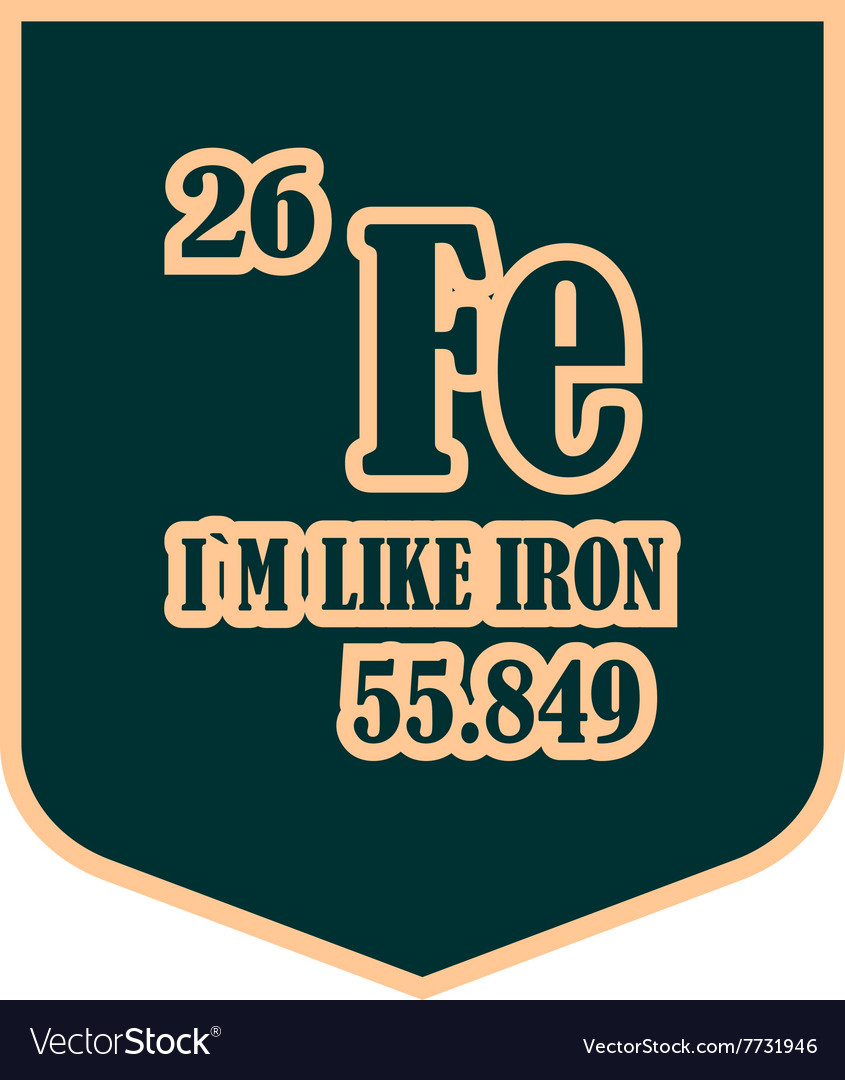 Shield with i am like iron text