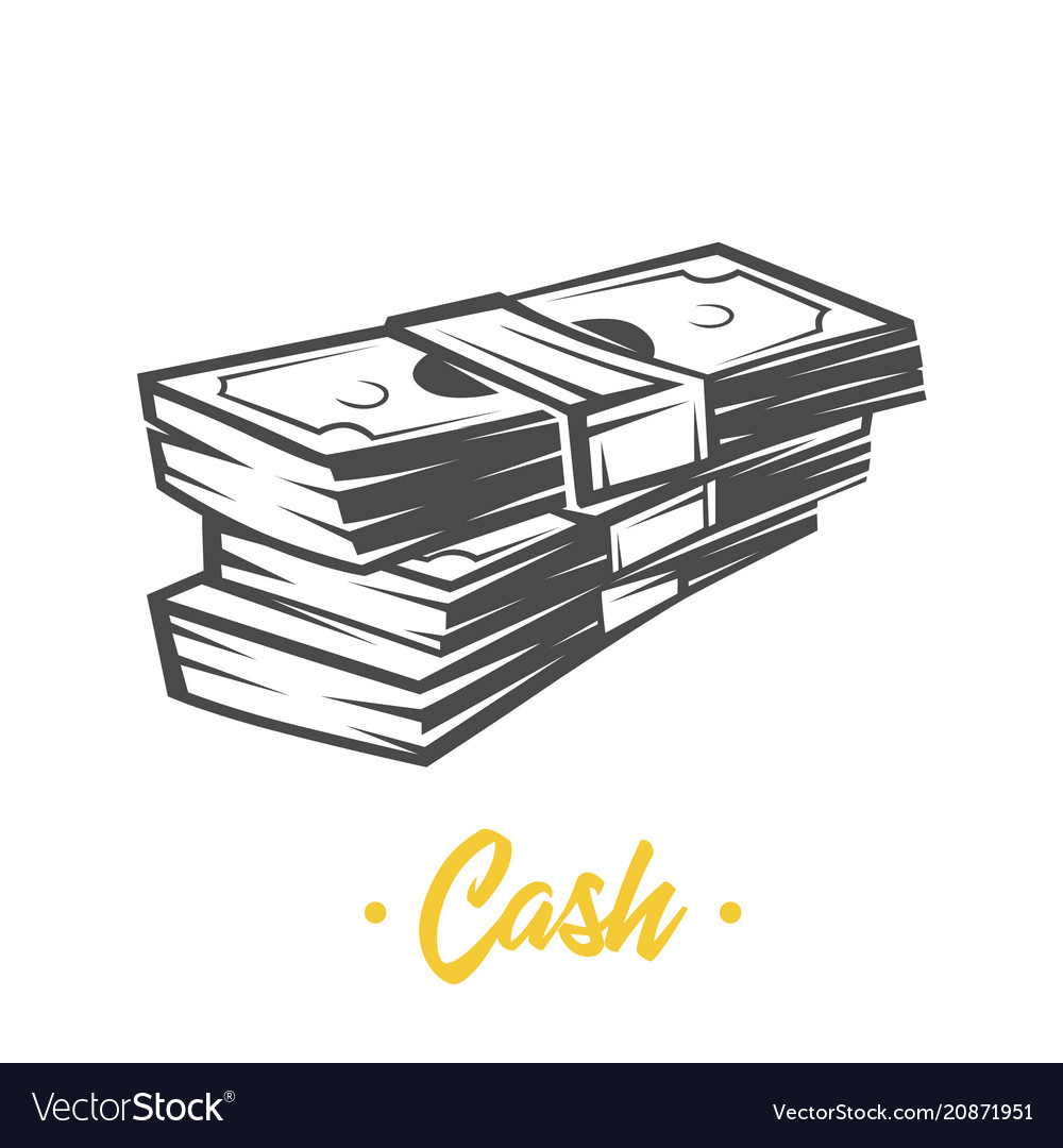 Cash black and white objects