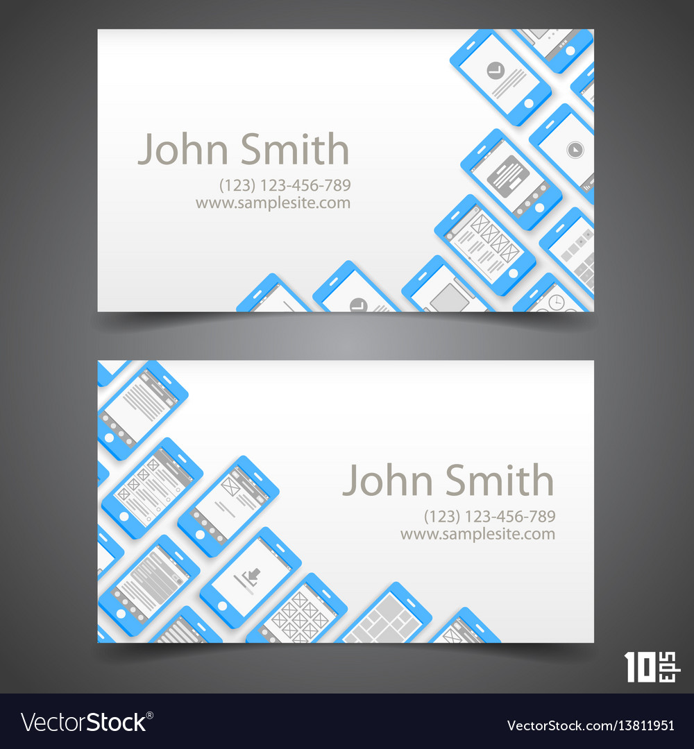 Flat phone screen calling card