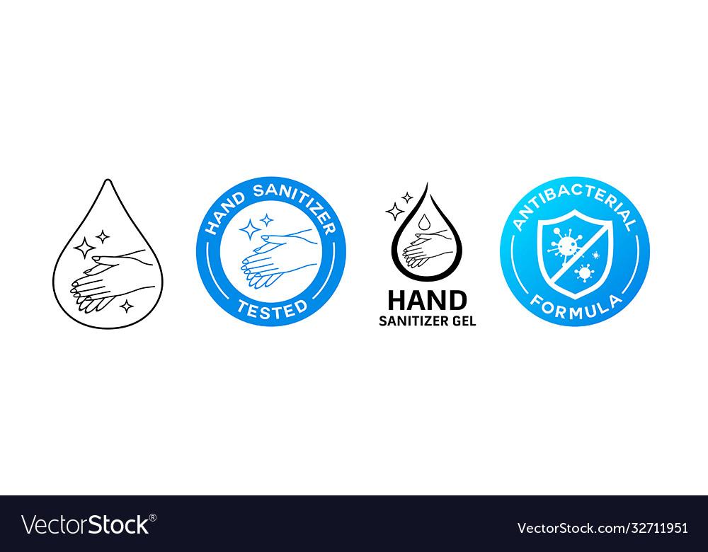 Hand wash sanitizer gel sign corona virus icon