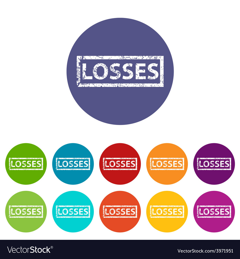 Losses flat icon