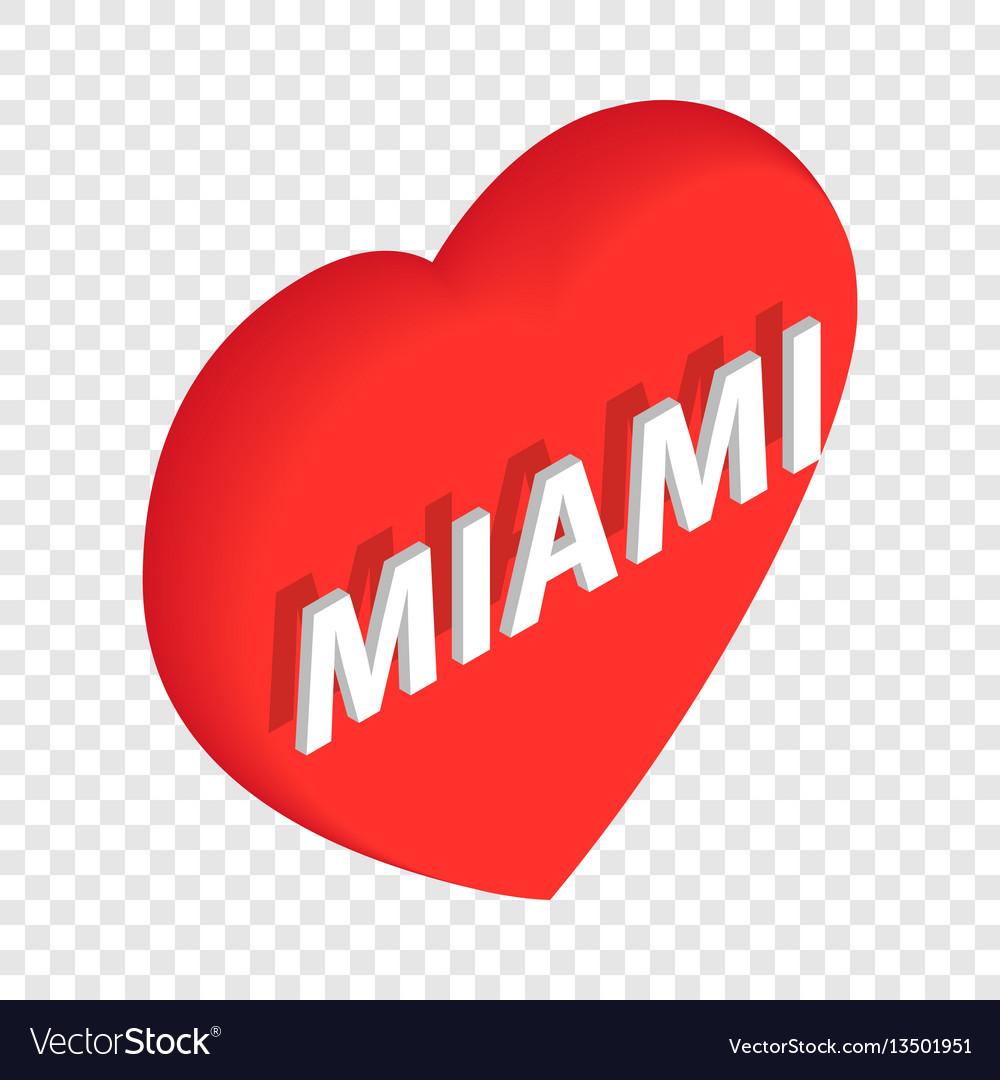 Love miami isometric icon