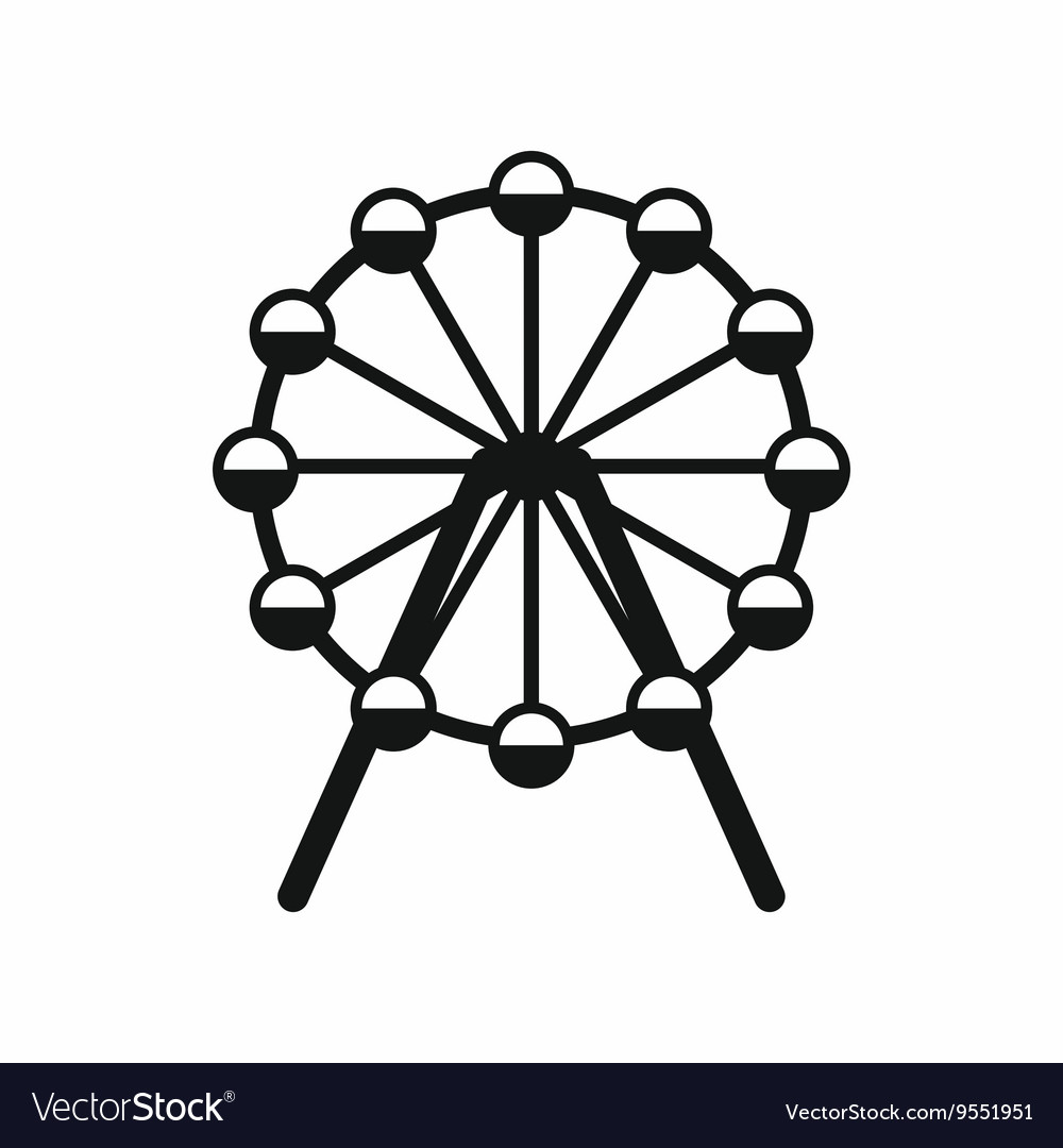 Singapore Flyer tallest wheel in the world icon vector image