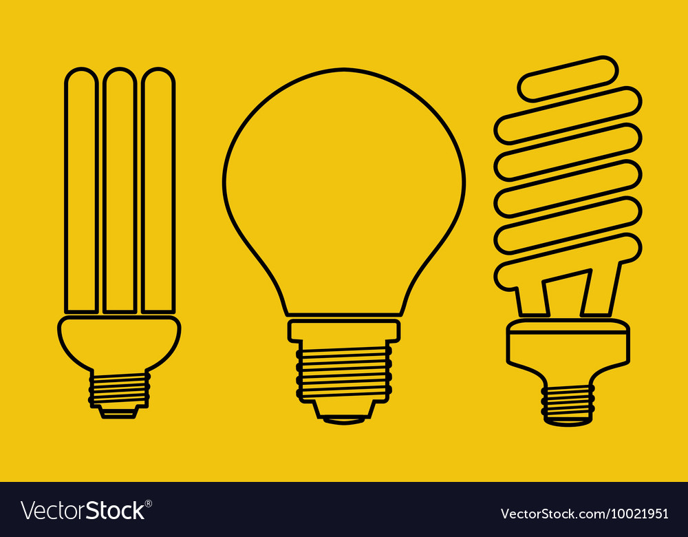 Three thin line lamp icons vector image