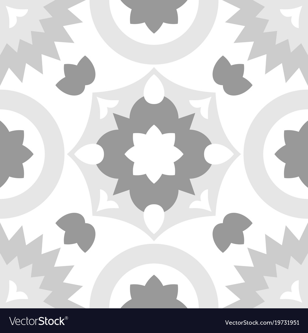 Tile grey and white decorative floor tiles pattern