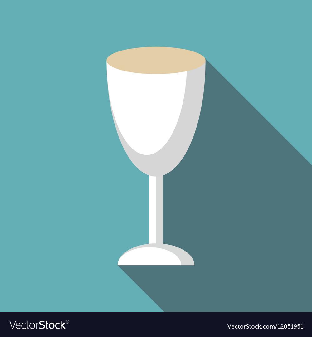 Wine glass icon flat style