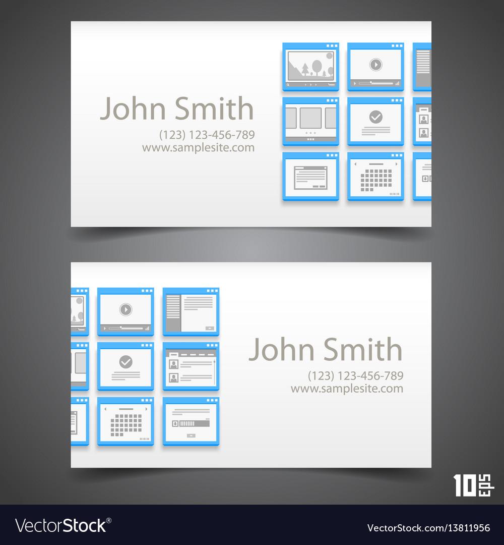 Flat windows frame calling card