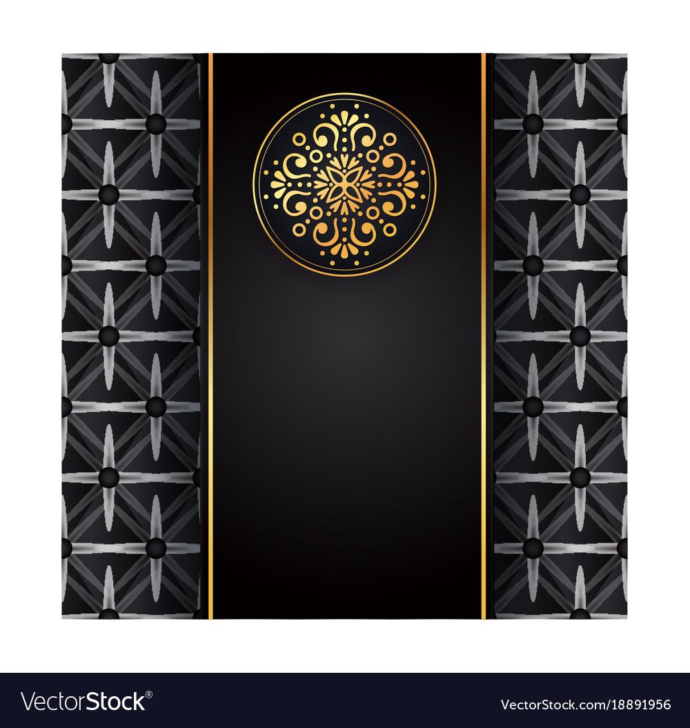 Gold black background design sun indian