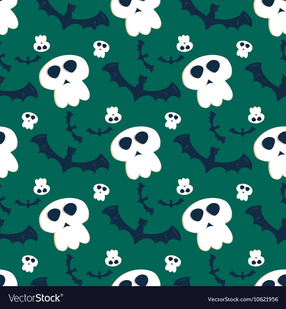 Halloween seamless pattern ghost scary vector image