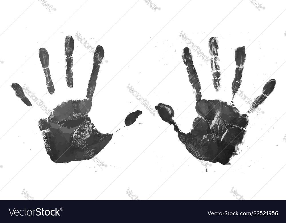 Realistic Grunge Style High Detail Handprint