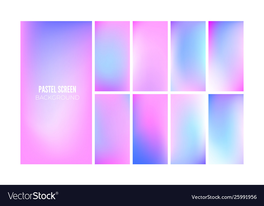 Soft gradient background in hologram colors