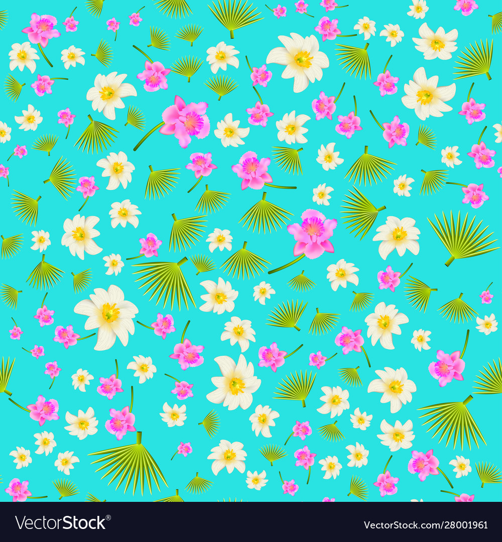 A colourful seamless background with exotic