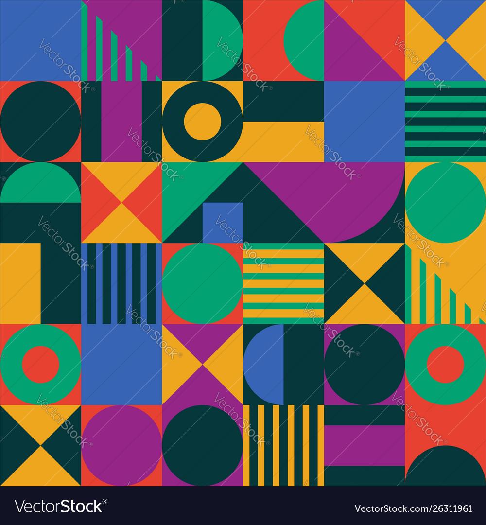 Abstract geometric shape pattern
