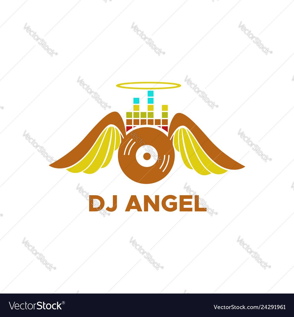 Dj angel logo