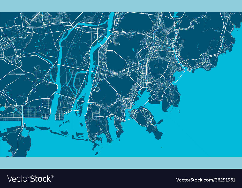 Of korea map busan south South Korea