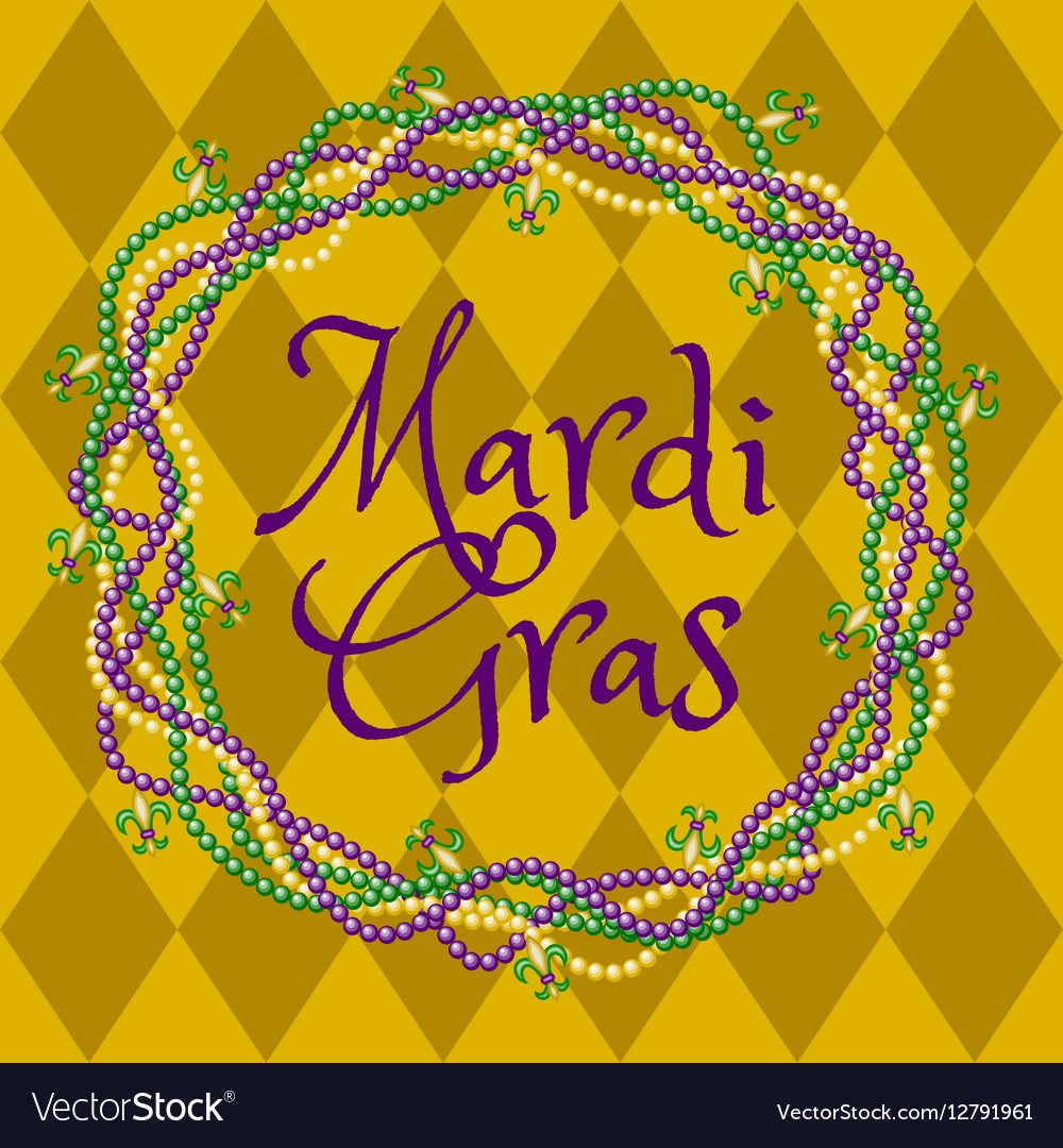 Mardy gras yellow background vector