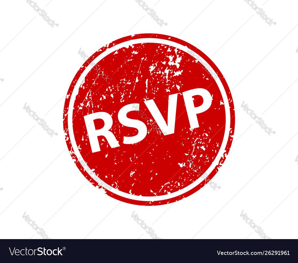 Please respond stamp texture rsvp rubber cliche