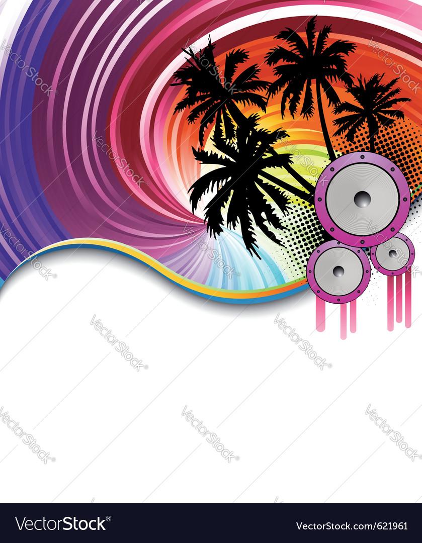 Rainbow beach party