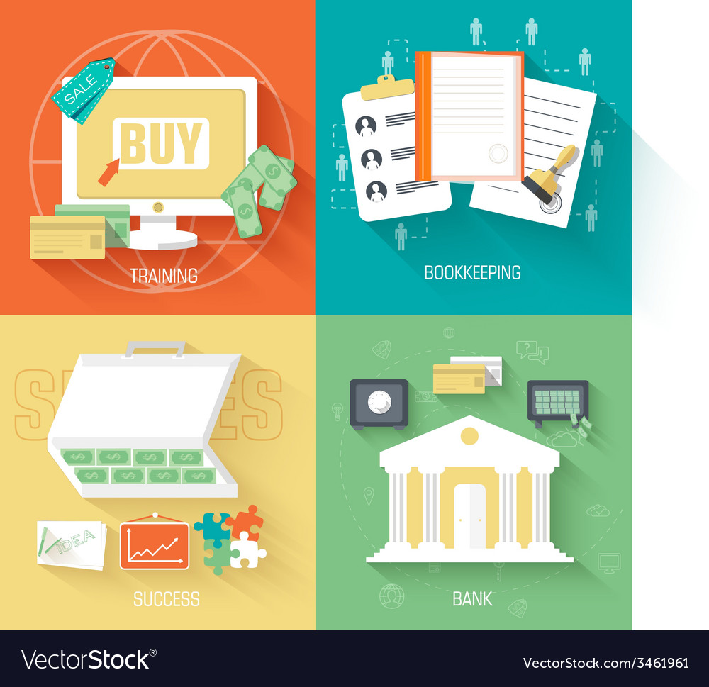 Set of social business life icons design b vector image