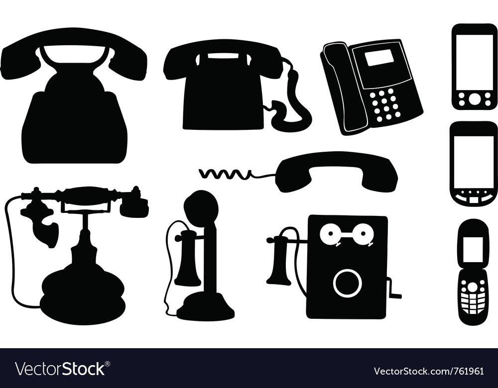 Set of telephones vector image