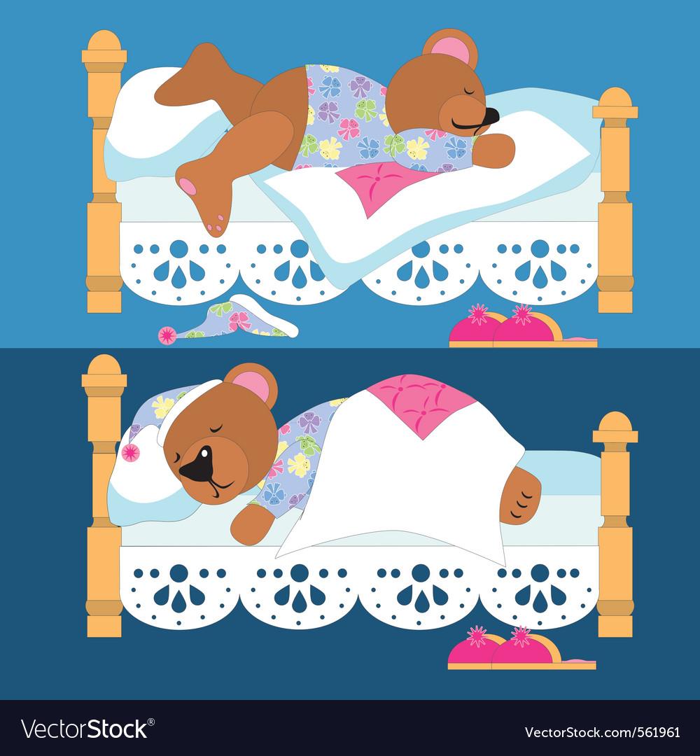Картинки медвежонок в кроватке спит