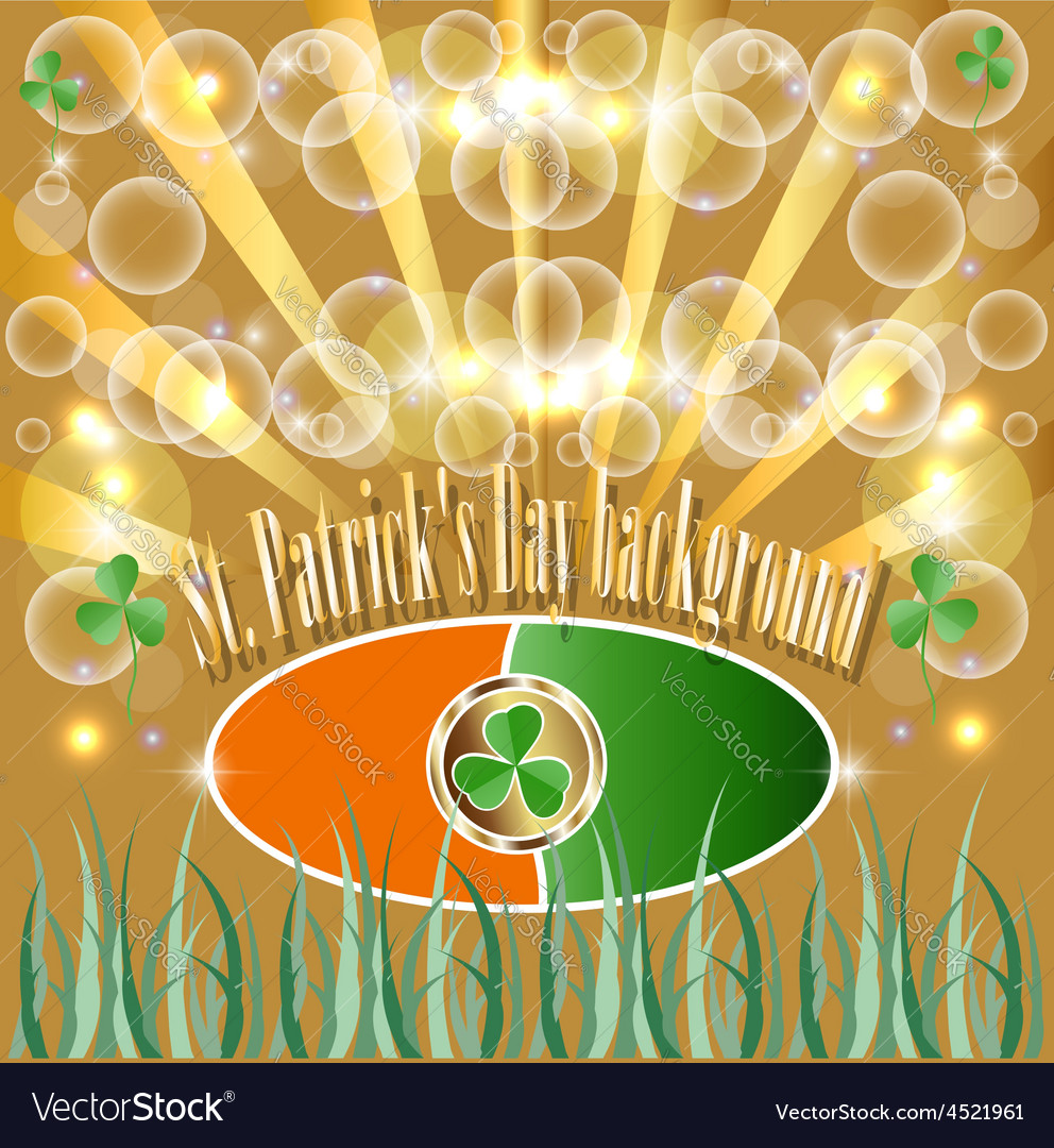 St Patrick Put the Clover Good luck Traditionally