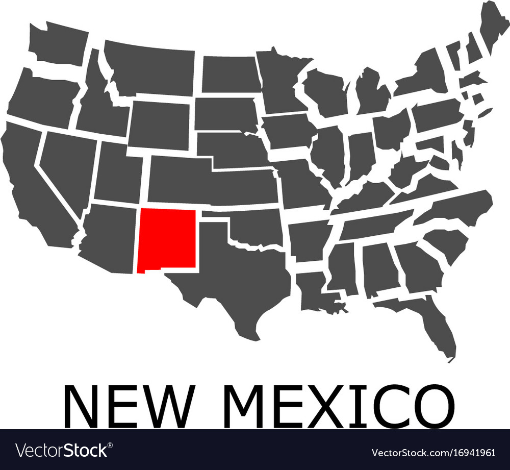 State new mexico on map usa