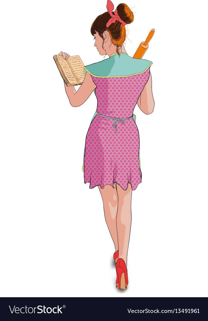 Women cooking roller pin