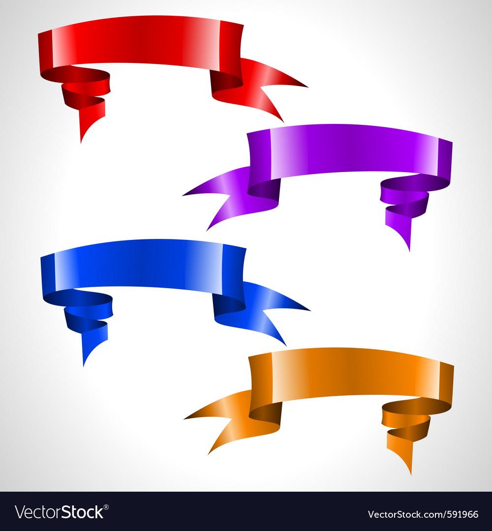 Colored ribbon stream vector image