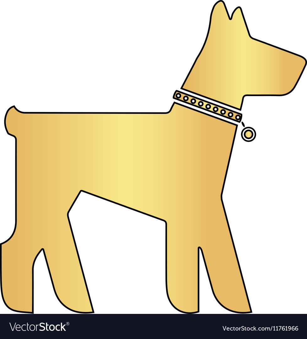 Dog computer symbol vector image