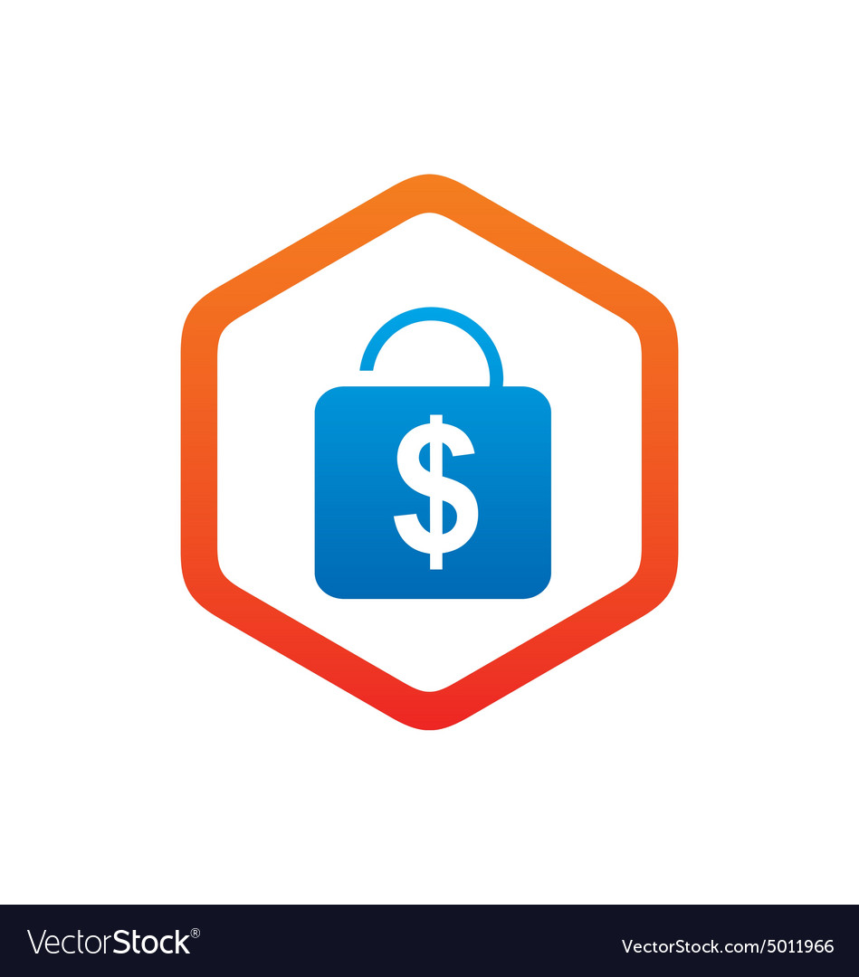 Dollar Sign Lock Saving Logo Vector Image