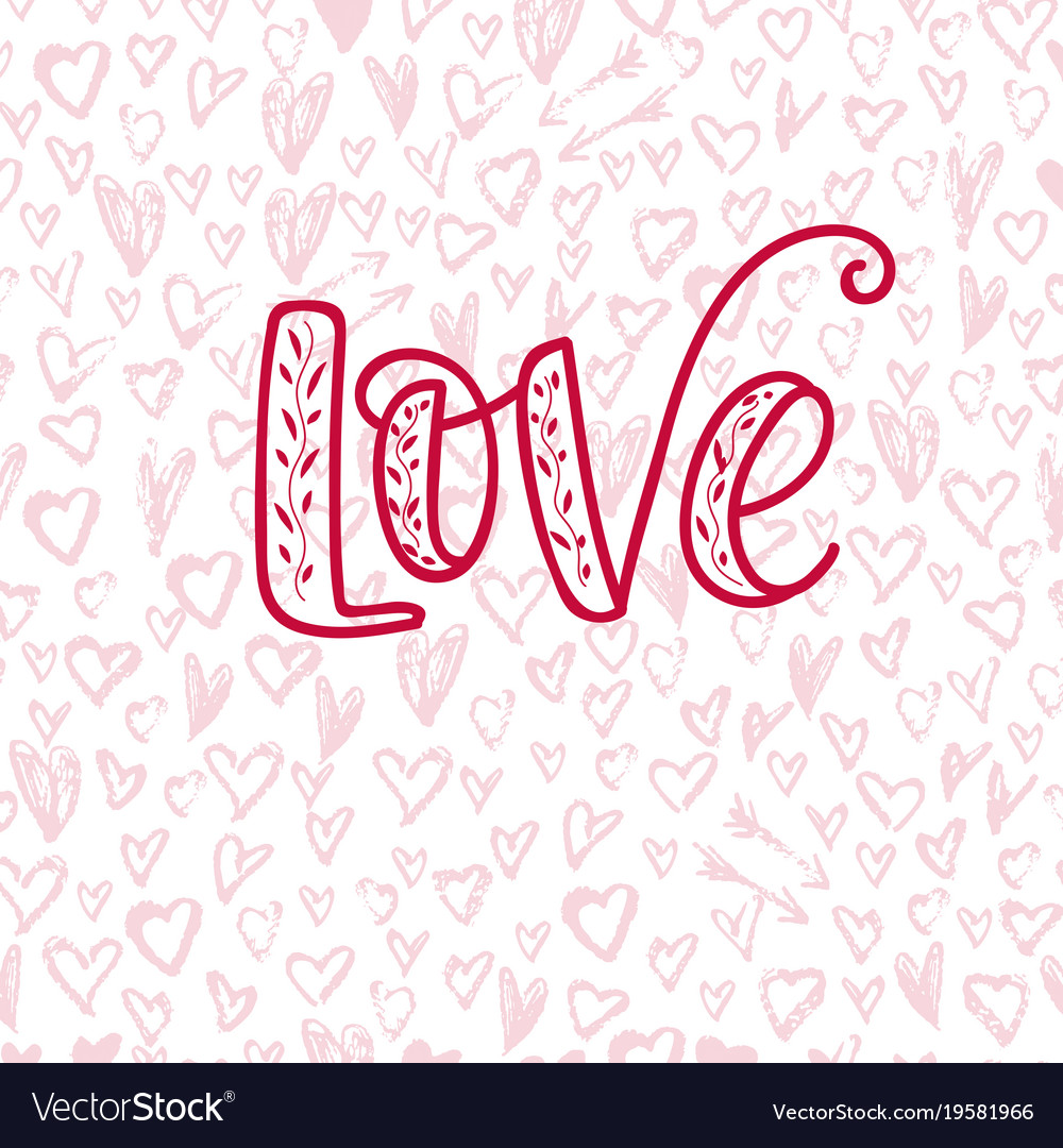 Happy valentine s day hand drawn calligraphy