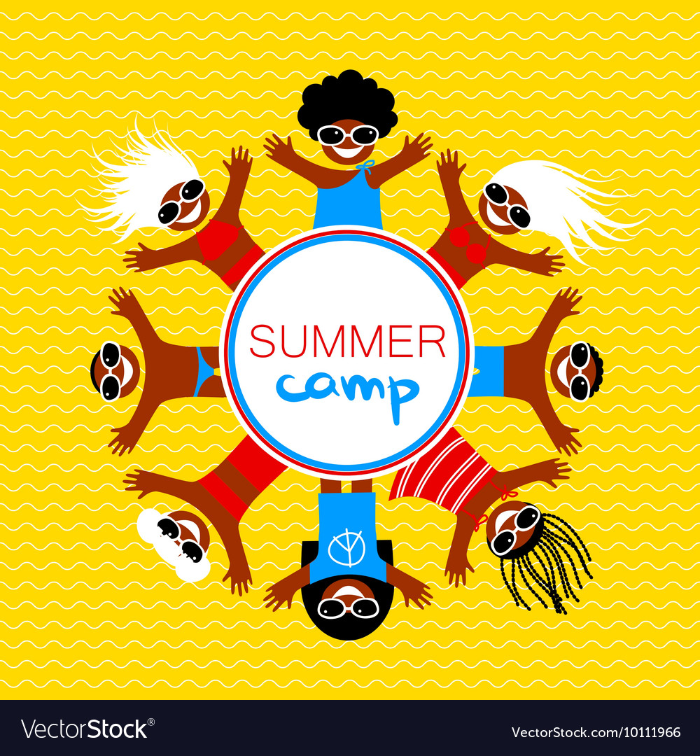 summer camp template royalty free vector image