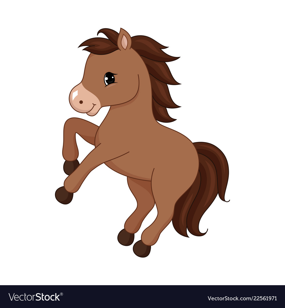 Adorable Cartoon Horse Character Royalty Free Vector Image