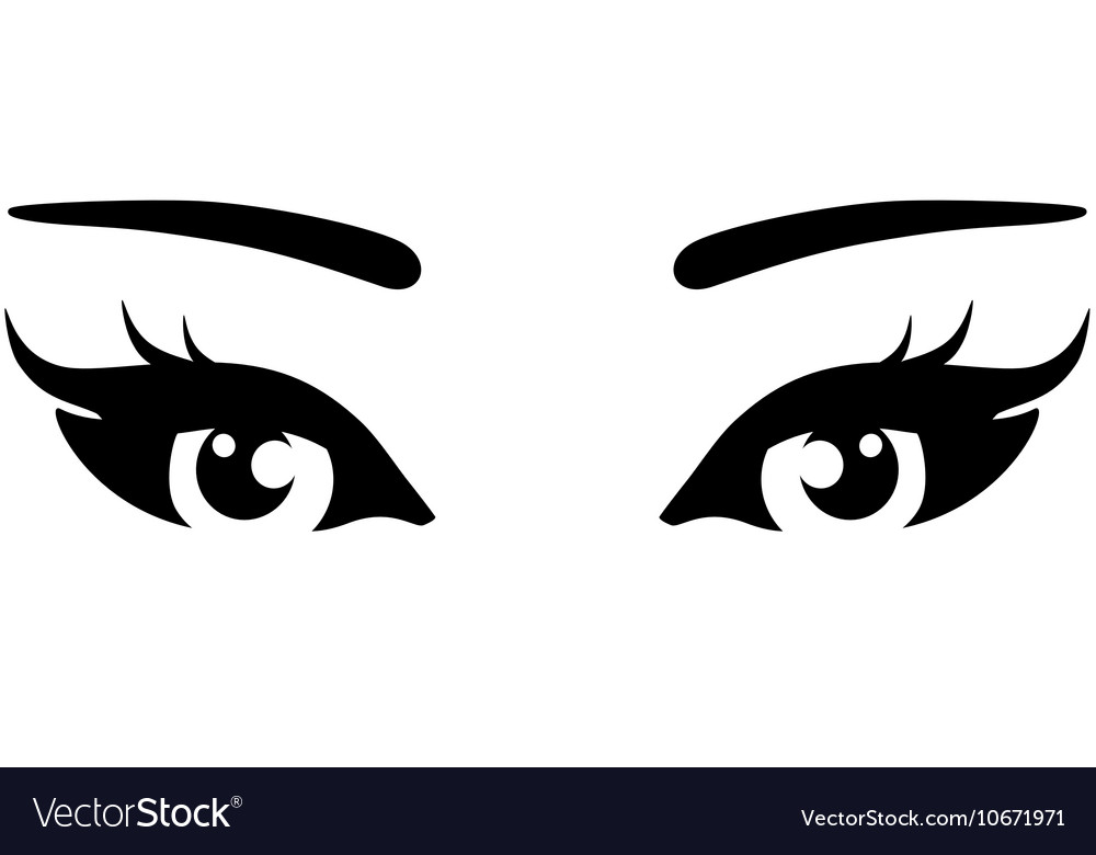 Beautiful woman eyes icon