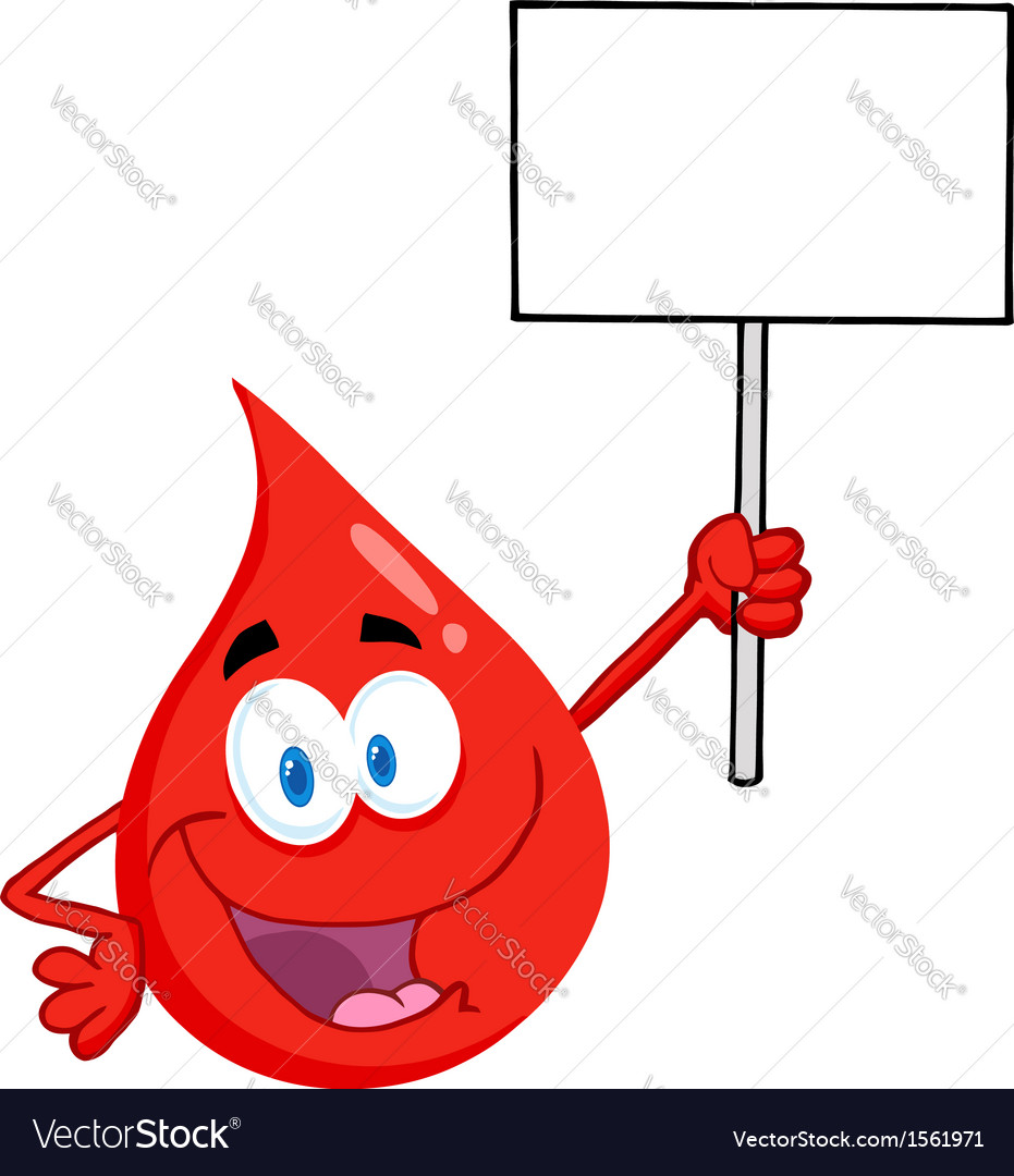 Blood donation cartoon vector image