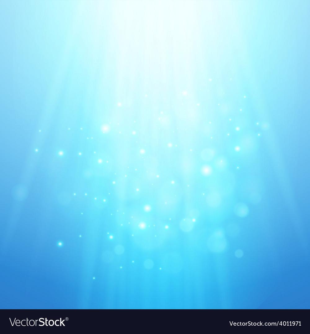 Blue rays of light bokeh blurred vector image
