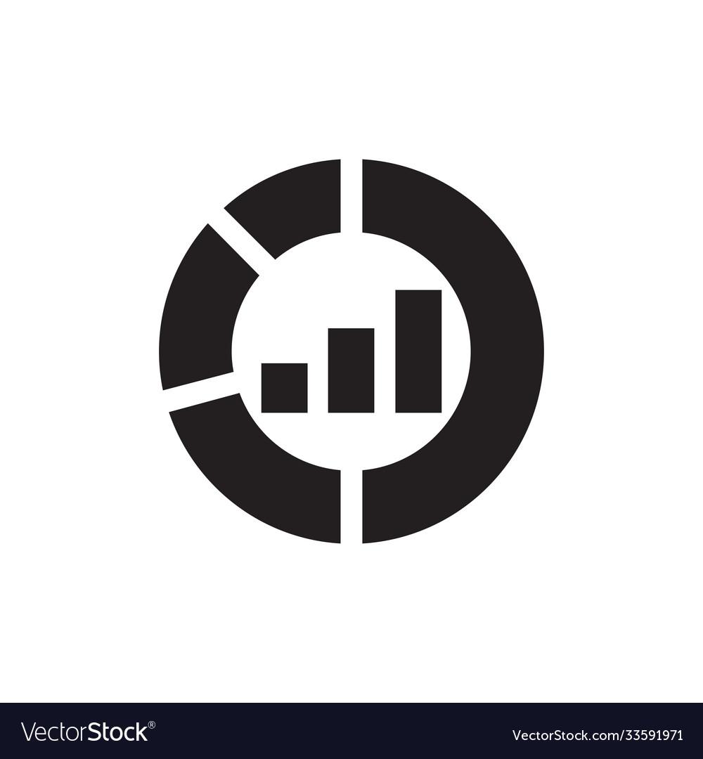 Pie chart - black icon on white background