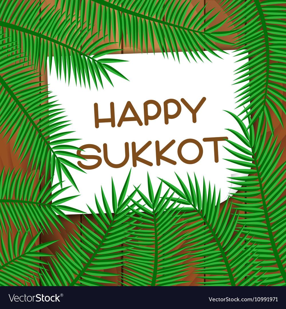 Sukkot festival greeting card royalty free vector image sukkot festival greeting card vector image m4hsunfo