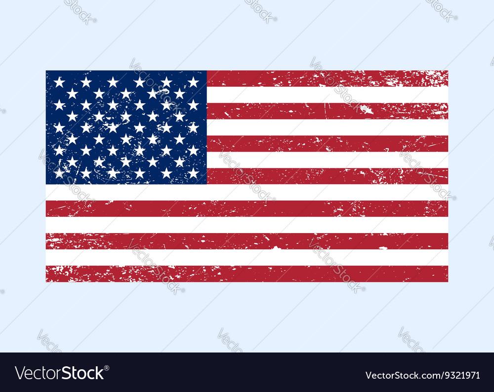 Usa flag color grunge vector image