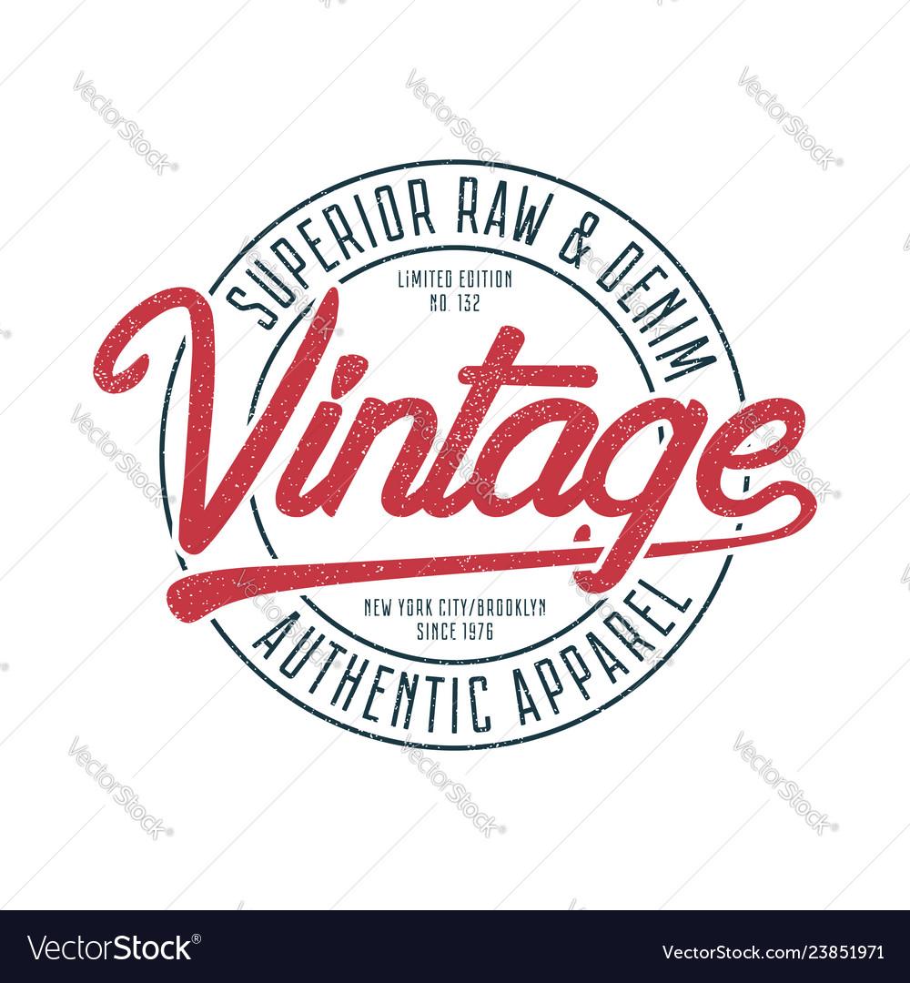 Vintage apparel print