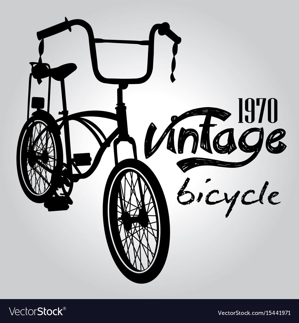 Vintage bicycle graphic design