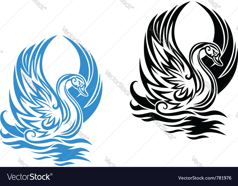 Beautiful swan vector image