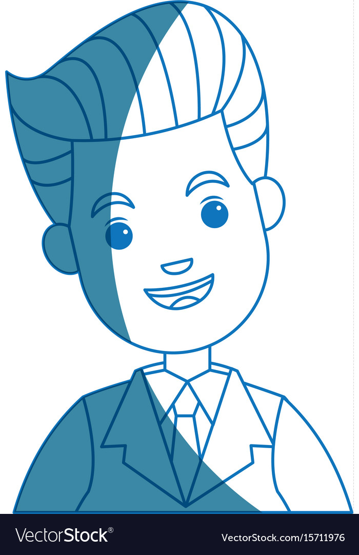 Businessman character face male smile