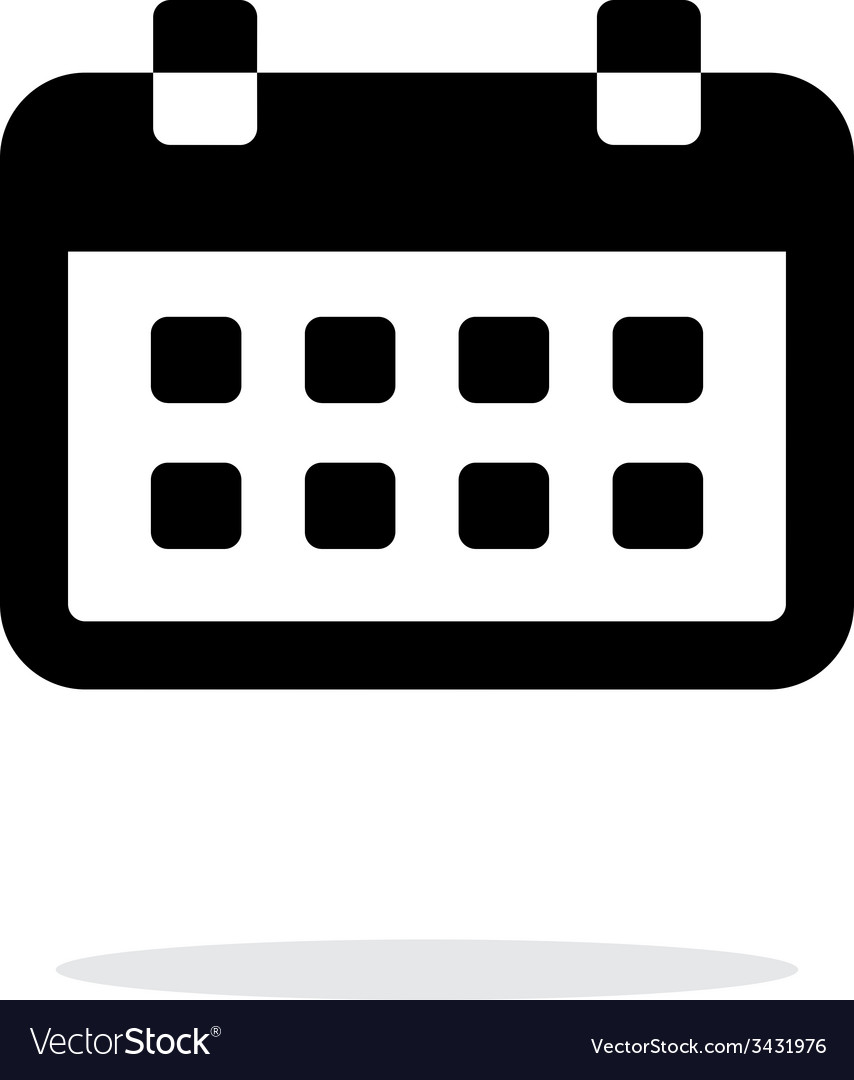 Calendar simple icon on white background
