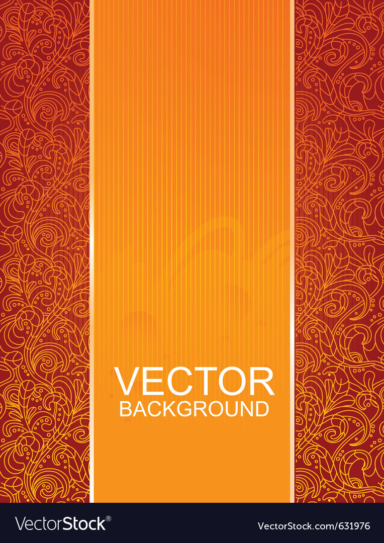 Floral beautiful red background vector image