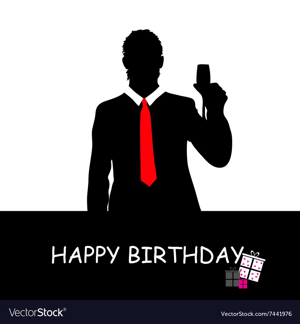 Happy Birthday With Man Vector Image