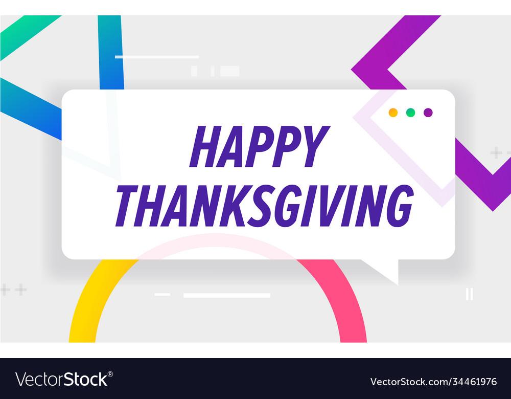 Happy thanksgiving in design banner